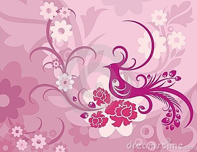 Floral Bird Background Series