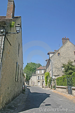 French street and houses