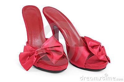Red High Heel Slippers