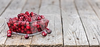 Preserved Cranberries selective focus; detailed close-up shot