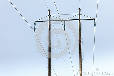 Voltage poles, electricity pylon, transmission power tower
