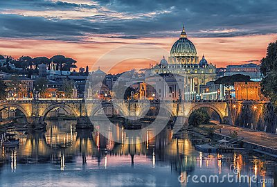 St Peter`s basilica in Rome