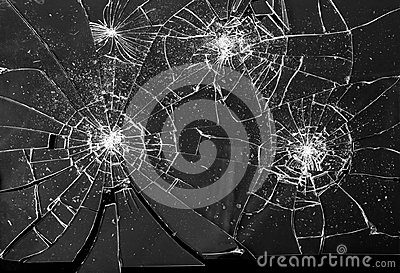 Broken Shattered Glass Shards Background