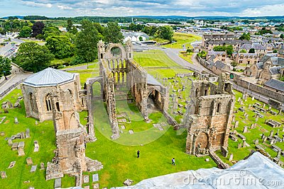 Elgin Cathedral, historic ruin in Elgin, Moray, north-east Scotland.
