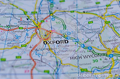 Oxford on map