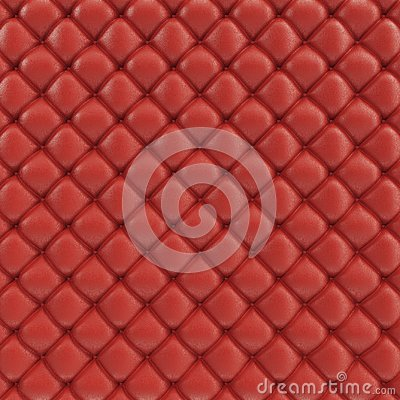 3D illustration leather sofa texture. Luxurious texture of red-colored leather upholstery. Leather Upholstery Sofa