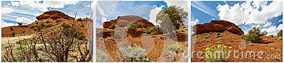 Red butte rocks desert badlands collage