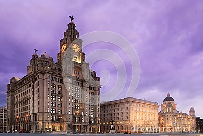 Liverpool Pier Head at Night