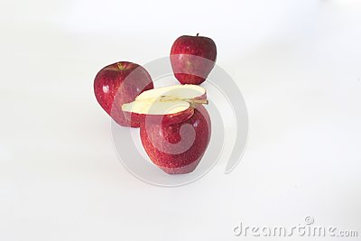 Sliced apple red