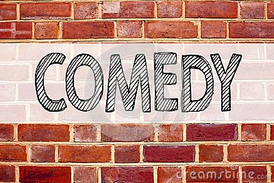 Conceptual announcement text caption inspiration showing Comedy. Business concept for Stand Up Comedy Microphone written on old br