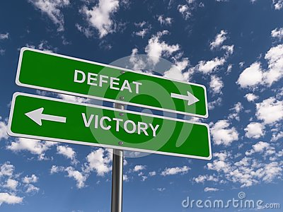 Defeat and victory