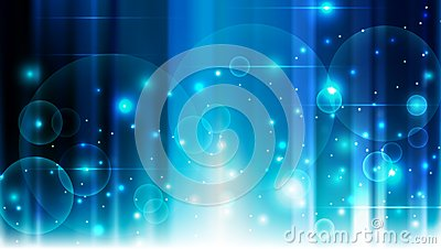 Abstract circles lines blue background illustration