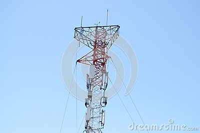 Communications tower for tv and mobile phone signals