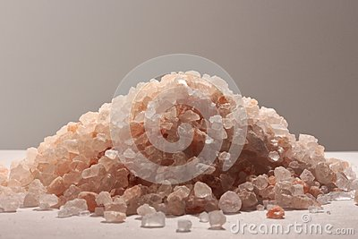 Himalayan pink salt, kitchen ingredient and holistic element