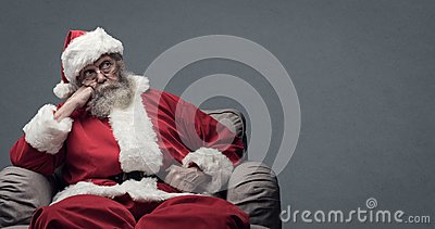 Lazy Santa waiting for Christmas