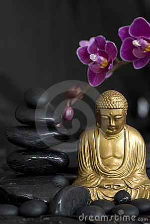Buddha with Orchid