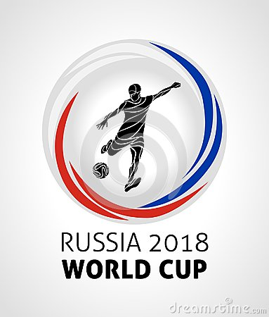 Football tournament 2018, football, soccer world cup in russia 2018 round vector logo
