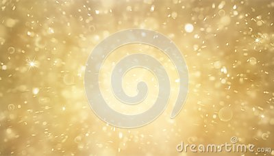 Abstract gold and bright glitter for background