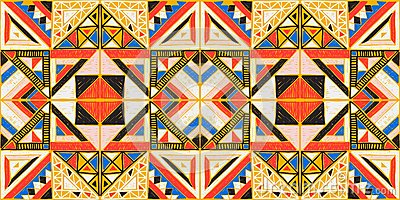 Tribal vector ornament. Seamless African pattern. Ethnic design on the carpet. Aztec style.