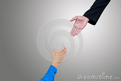 stock image of hand for help.