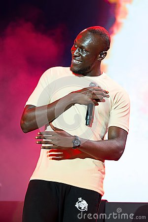 Stormzy hip hop and grime artist perform in concert at FIB Festival
