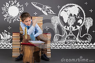 Education concept. Imagination and fantasies