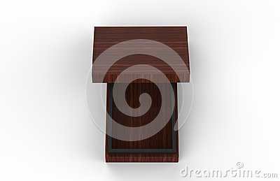 Elegant Wooden Box, Luxury Wooden Gift Set Box On Isolated White Background, Mock Up Template, Ready For Your Design, 3D Illustrat