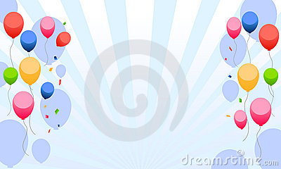 Kids party with balloons background