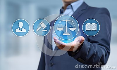 stock image of labor law lawyer legal business internet technology concept