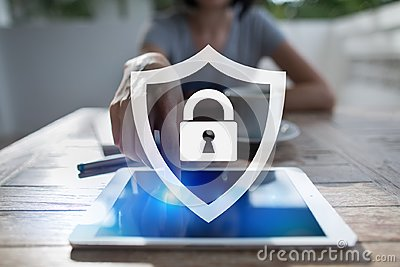 Cyber security, Data protection, information safety and encryption. internet technology and business concept.