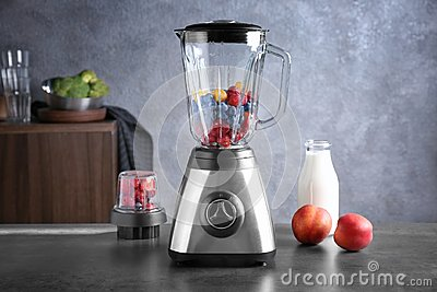 Blender with berries