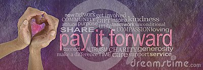 PAY IT FORWARD with love word cloud