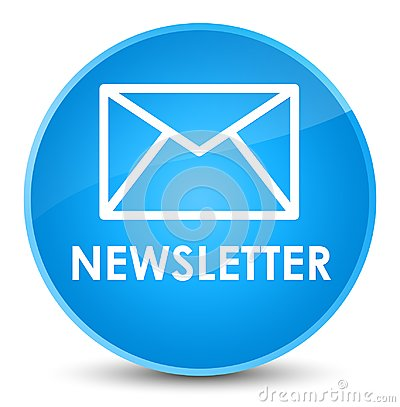 Newsletter elegant cyan blue round button