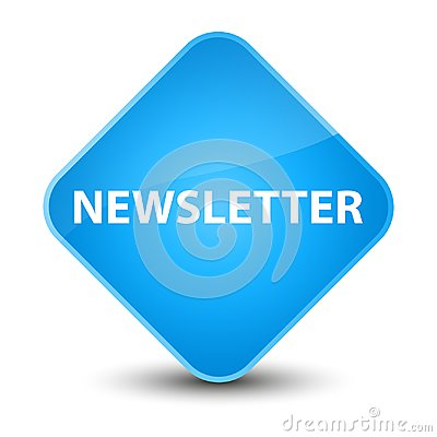 Newsletter elegant cyan blue diamond button