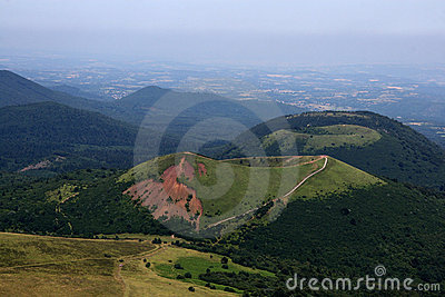 Craters of the auvergne volcanic chain