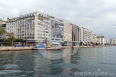 Amazing view of embankment of city of Thessaloniki, Central Macedonia, Greece