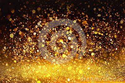 Golden glitter texture Colorfull Blurred abstract background for birthday, anniversary, wedding, new year eve or Christmas