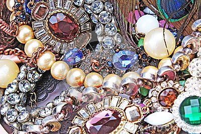 Fashion jewelrys. Fashion jewels as background. Jewelery texture. A lot of Jewells in texture. Jewellery background