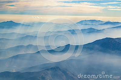 Andes Mountains Aerial View, Chile