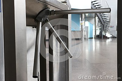 stock image of turnstile in transport