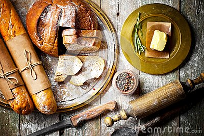 Bread baking in the composition