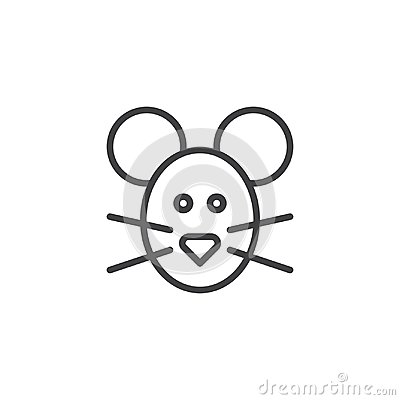 Mouse head line icon