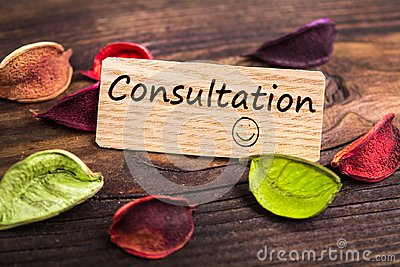 Consultation word in card