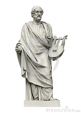 Statue of the ancient Greek poet Homer