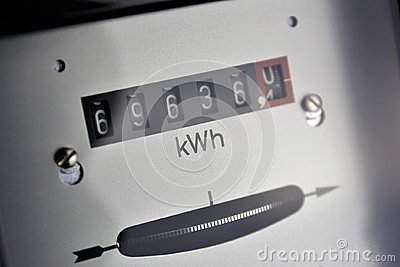 An concept Image of a electricty Counter - Energie