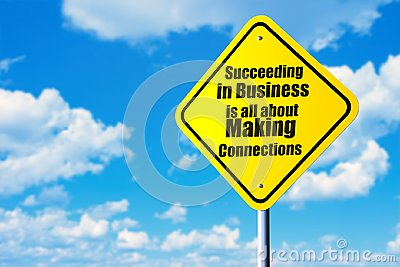 Succeeding in business in all about making connections