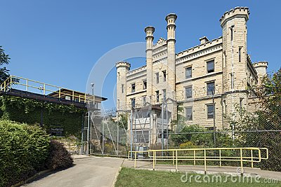 Gothic style old penitentiary in Joliet