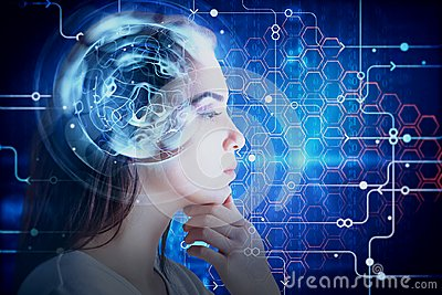 stock image of brainstorm and robotics concept