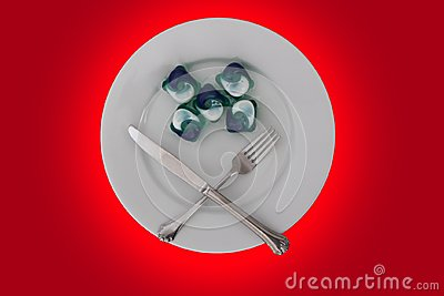 Tide Pods on Plate