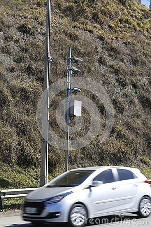 Traffic Speed Camera. Police radar